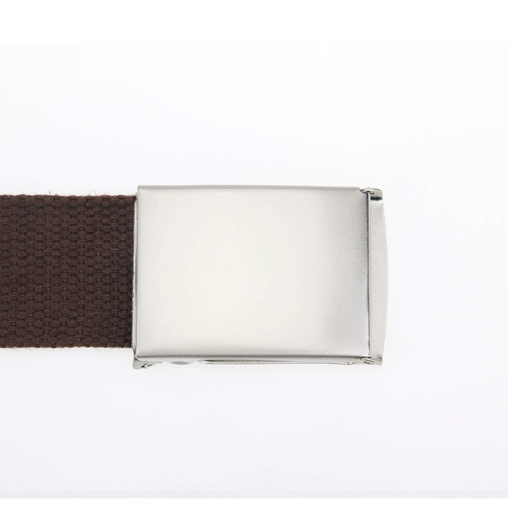 Maikun Men's Tactical Belt Metal Buclkle Solid Color Canvas Belt Father's Day Gifts by Maikun (Image #2)