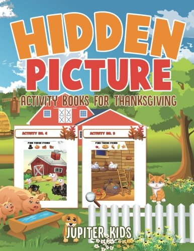 Hidden Picture Activity Books for Thanksgiving