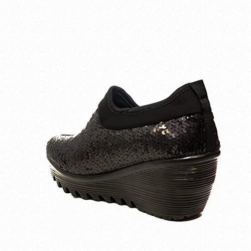 WozSneaker Ballerina UP497 paillette BLACK neuen Herbst-Winter Kollektion 2017 2018