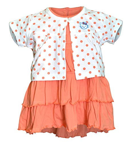 Orange and Orchid Cotton Girl's Frock