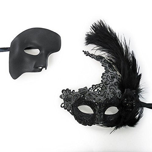 Beauty & the Beast Couple Venetian Masquerade Mask Event Party Ball Mardi Gars Halloween - Part 4