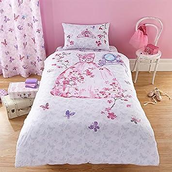 copripiumino set trapuntato per bambine colore rosa - singolo ... - Copripiumino Bianco E Rosa