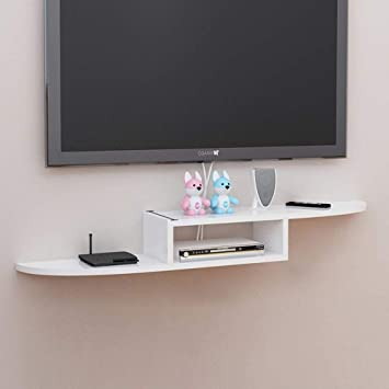 ACZZ Estante flotante Gabinete de TV montado en la pared Set Top ...