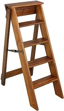 J-Escalera de Tijera Portátil 3 NivelesPlegables Taburete Escalera De Madera Estable Baja Estante Puesto De Flores, Familia Cocina Adulto Niño: Amazon.es: Bricolaje y herramientas
