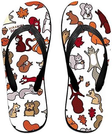 ビーチシューズ リス 動物柄 ビーチサンダル 島ぞうり 夏 サンダル ベランダ 痛くない 滑り止め カジュアル シンプル おしゃれ 柔らかい 軽量 人気 室内履き アウトドア 海 プール リゾート ユニセックス
