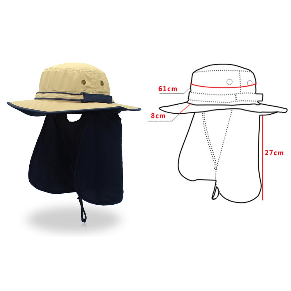 iShine Unisex Quick Drying UV Protection Outdoor Sun Hat With Flap Neck  Cover  Amazon.co.uk  Clothing d35a1d9fef0d