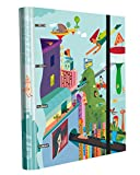 Edima School Kits – 4-Ring Binder with Elastic Bands + 120 Sheets of Paper, Multi-Coloured, City Future Design