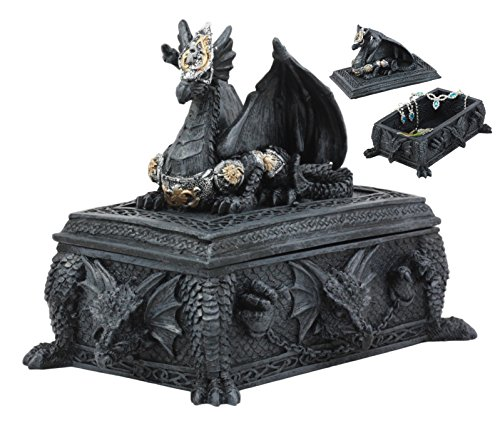 Ebros Celtic Knotwork Alchemy Dragon Guarding The Saint George Tomb Decorative Box 7