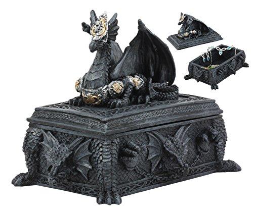 (Ebros Celtic Knotwork Alchemy Dragon Guarding The Saint George Tomb Decorative Box 7