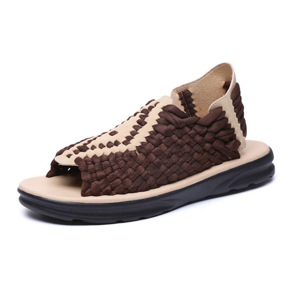 SUNNY Store Mens Hiking Sandal Fisherman Beach Shoes Weave Sandals