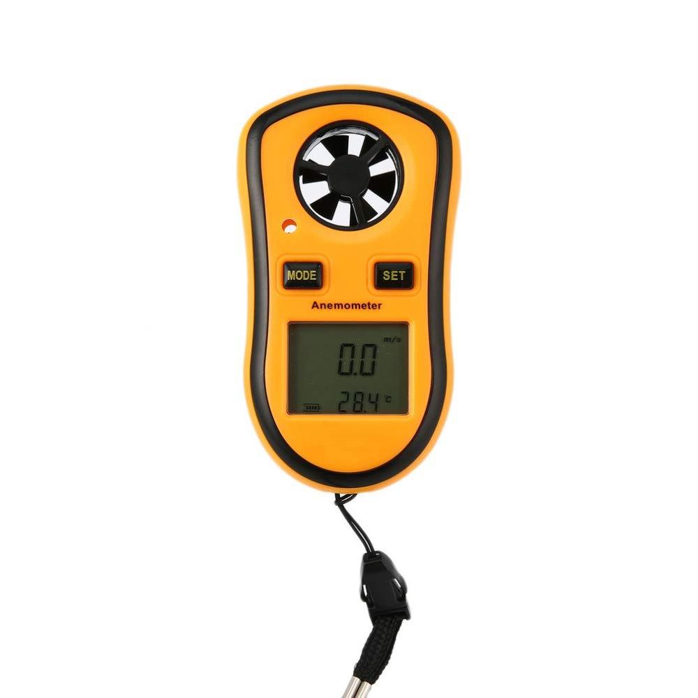 WULAU Anémomètre numérique, Compteur de jauge d\'échelle de Vitesse de Vent à air de Poche Compteur de jauge d'échelle de Vitesse de Vent à air de Poche