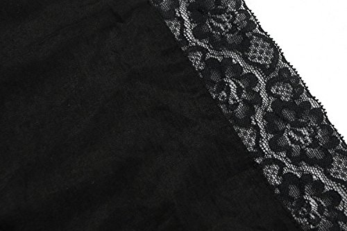 Charmian Corset Top Gothic Dress Lace Schwarz Victorian Women's Tunic Tencel Cotton 6S461Owq