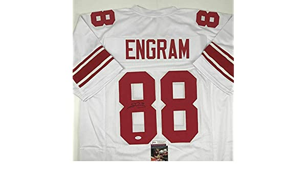 c2e92496f Evan Engram Autographed Jersey - White COA - JSA Certified - Autographed  NFL Jerseys at Amazon s Sports Collectibles Store