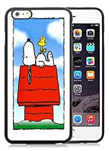 Fashionable DIY Custom Designed Snoopy and Woodstock Cover Case For iPhone 6 Plus 5.5 Inch Black Phone Case CR-582