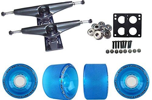 TGM Skateboards Core 7.0 Black Longboard Trucks Wheels Package Bigfoot 70mm Pathfinders Blue