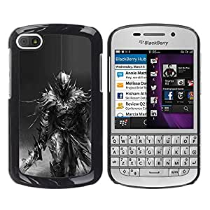 For BlackBerry Q10 Case , Longsword Grey Character Pc - Diseño Patrón Teléfono Caso Cubierta Case Bumper Duro Protección Case Cover Funda