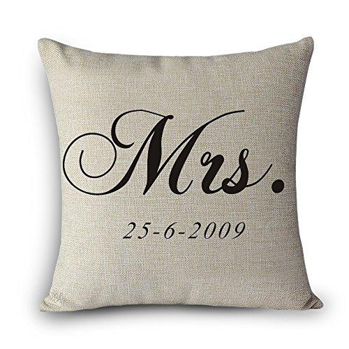 MAYUAN520 Cojines Sr. Sra. Amor Almohadas Derecho Imprimir ...