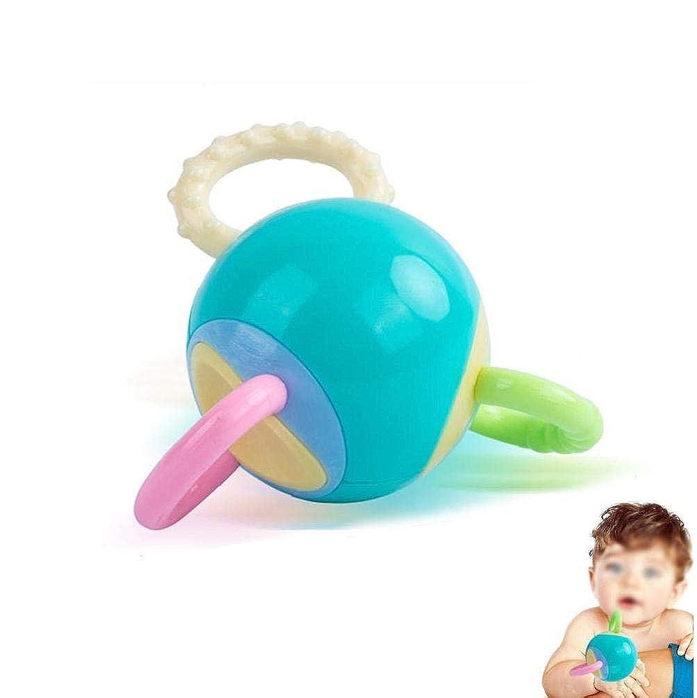 wwzEITpV Sfera della Bell Giocattolo Regalo Rattle per dellinfante Appena Nato del Ragazzo della Ragazza della Caramella di Colori Nuby Massaggiagengive dentizione Giocattolo