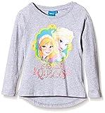 Disney Girl's Frozen Long Sleeve T-Shirt, Grey (Light Grey Melange), 5 Years Bild