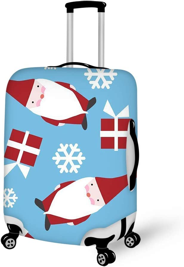 Christmas Holiday Danish 18-21 inch Travel Luggage Cover Spandex Suitcase Protector Washable Baggage Covers
