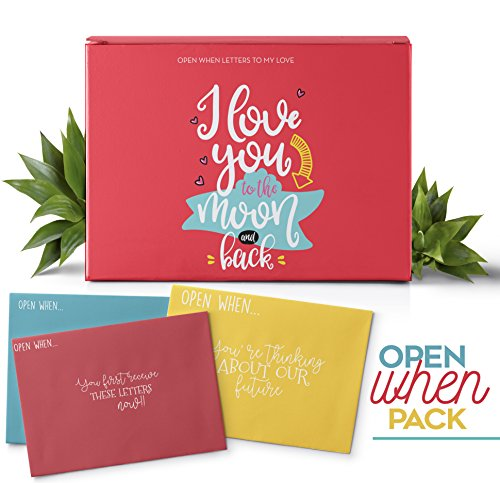 THE BEST GIFT  Open When Letters For Your Lovely Person, The Perfect Gift to Your Couple 24 Envelopes With Amazing Topics 24 Blank Notes To Express All Your Feelings. I love You To The Moon And Back