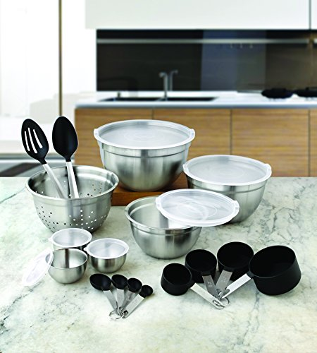 Better Homes and Gardens 23-Piece Gadget and Utensil Set, Clear (Better Homes Cookware)