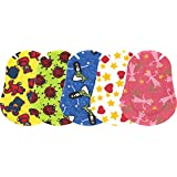 Ortopad Elite Girls Eye Patches - Patterns with Glitter Accents, Medium Size (50 Per Box)