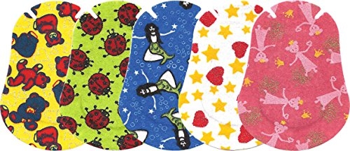 Ortopad Elite Girls Eye Patches - Patterns with Glitter Accents, Regular Size (50 Per (Eye Patches For Kids)
