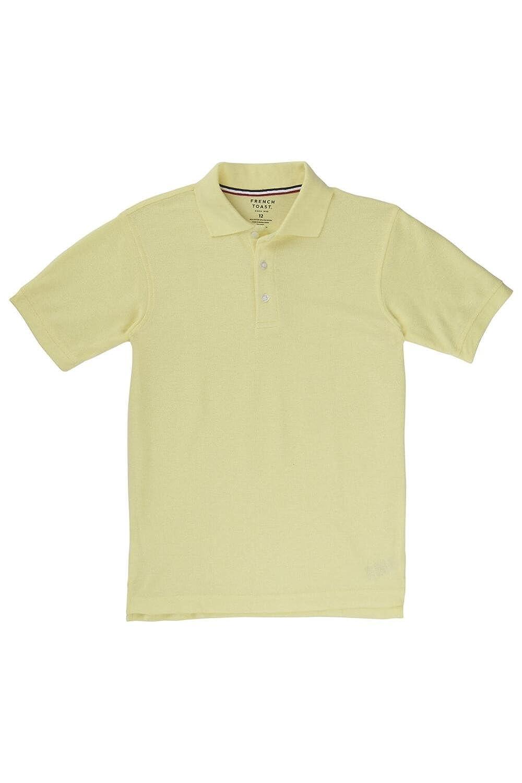 French Toast Boys Short Sleeve Pique Polo Shirt Standard /& Husky