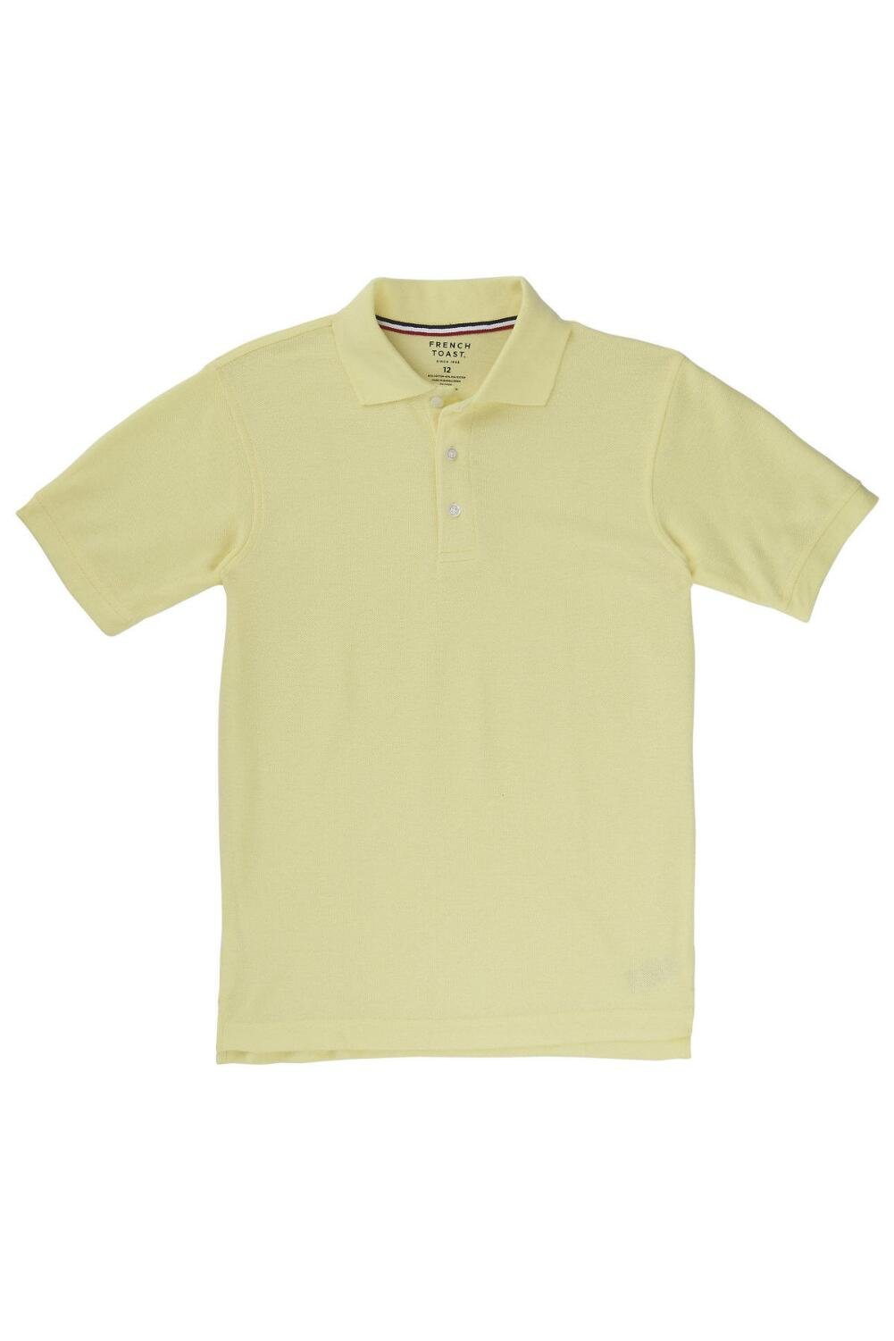 French Toast Little Boys Short Sleeve Pique Polo, Yellow, X-Small/4/5