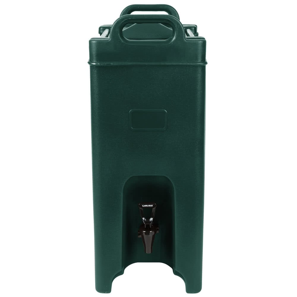 TableTop King XT500008 5 Gallon Forest Green Insulated Beverage Dispenser