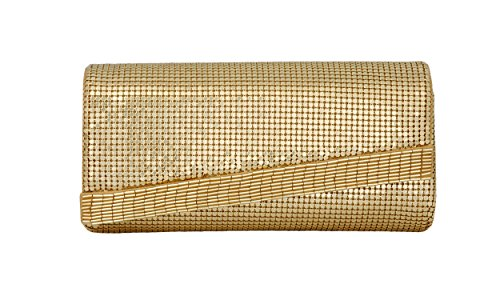 Whiting & Davis Beaded Edge 1-5847GL Clutch,Gold,One Size by Whiting & Davis