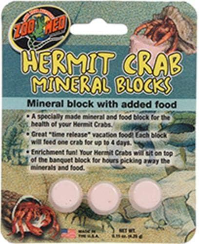 Zoo Med Laboratories Zoo Hermit Crab Mineral Blocks 4 Pack