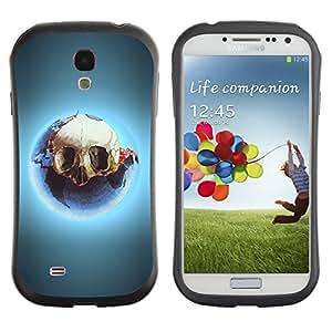 Be-Star Impreso Colorido Diseño Antichoque Caso Del iFace Primera Clase Tpu Carcasa Funda Case Cubierta Par SAMSUNG Galaxy S4 IV / i9500 / i9515 / i9505G / SGH-i337 ( Cool Skull Glow )