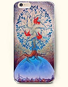 diy phone caseSevenArc New Apple iphone 6 (4.7inch) Hard Back Case - MANDALA CIRCLE - Mandala Circle Blue Tree and Leaves and Red...diy phone case