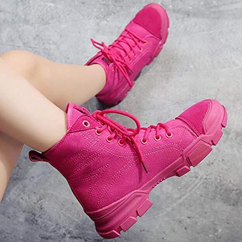 de Alto Color EU36 Hip Plataforma fantasía Zapatos Zapatos de Mujer CN35 de 5 FH Casuales Zapatos de Baile Lona Rose Hop Red de Size de UK3 qwaPxU