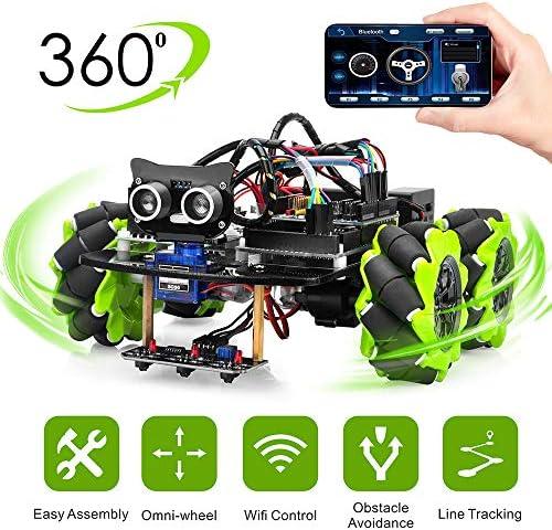 OSOYOO Mecanum Wheels Robot Car Kit for Arduino Mega2560|Omni Wheels Robotic | Stem Remote Controlled Educational | Mechanical DIY Coding for Kids Teens Adults: Amazon.es: Electrónica