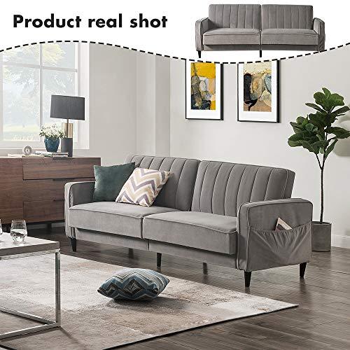 Sofa Bed Living Room Furniture Sets, Tufted Futon Wide ...