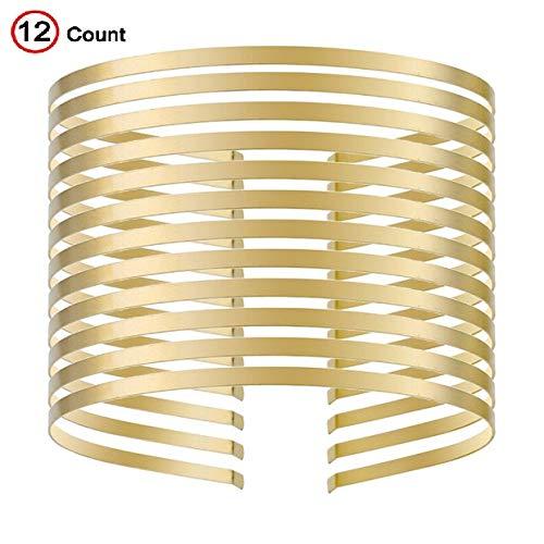Smooth Metal Headbands DIY Craft Blank Thin Steel Wire Frame Hairband Head Bands Gold