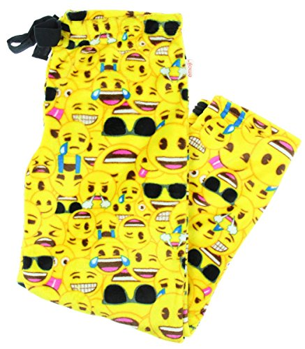 Emoji All Over Superminky Fleece Sleep Pants - Medium