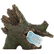 Aquatic Creations Hollow Log Stump Aquarium Ornament