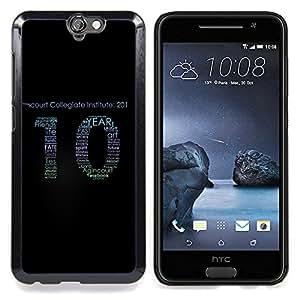 """Qstar Arte & diseño plástico duro Fundas Cover Cubre Hard Case Cover para HTC One A9 (Destino Amigos Vida Lies Cita Número 10 Slogan"""")"""