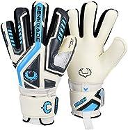 Renegade GK Talon Goalie Gloves with Microbe-Guard (Sizes 5-11, 3 Styles, Level 2) Pro-Tek Fingersaves & 3