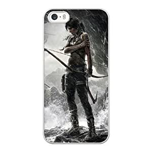 Custom made Case,Tomb Raider a Survivor Cell Phone Case for iPhone 5 5S SE,White Case With Screen Protector (Tempered Glass) Free S-7271457