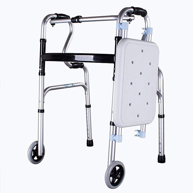 XINKONG Andador Soportes para Caminar Andador Plegable De Aluminio ...