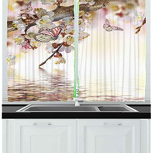 Cherry Blossom Window Curtains: Amazon.com