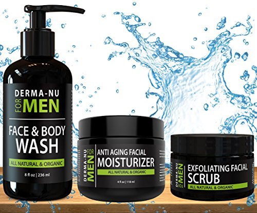 All-In-One Anti Aging Daily Skincare Set for Men - Gentleman's Grooming Kit...