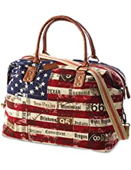 Stars and Stripes Weekender Overnight Tote Bag