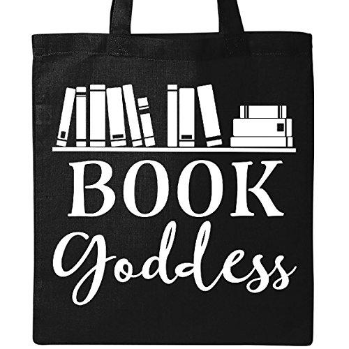 Inktastic Librarian Gift Book Goddess Reading Tote Bag Black