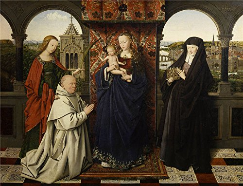 Theatre Costume Design Templates (High Quality Polyster Canvas ,the Best Price Art Decorative Prints On Canvas Of Oil Painting 'Jan Van Eyck (and Workshop) - Virgin And Child, With Saints And Donor, Early 1440s', 24x31 Inch / 61x80 Cm Is Best For Foyer Decoration And Home Artwork And Gifts)